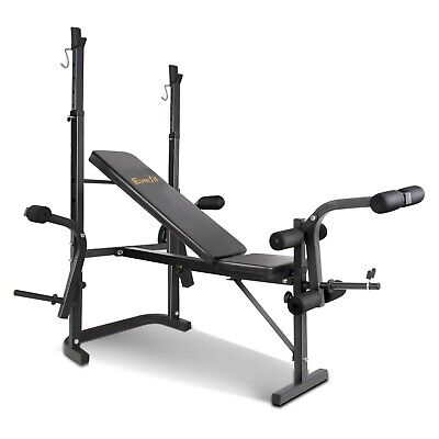 Multi-Station Weight Bench Press Curl Home Gym Weights Equipment Flat @AU