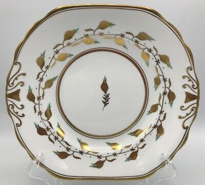 Royal Chelsea Golden Jade Square Handled Cake Plate Vintage 3483A19