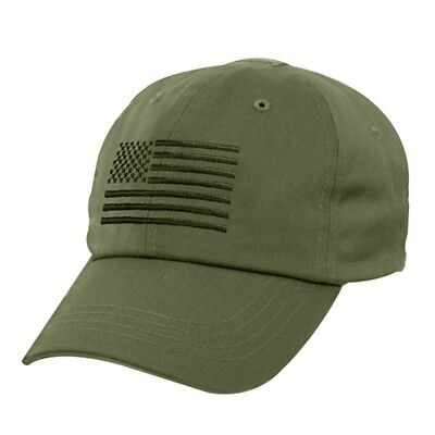 OD Green USA Flag Ball Cap US Army USMC Navy SEAL Seabees Tactical Operator Hat