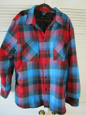 808651217 THE NORTH FACE Men's Flannel Insulated Shirt Jacket Sz. XXL XXXL Oversized