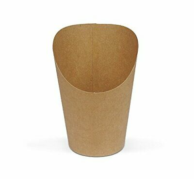 BUBBLE Waffle Cone Cup kraft paper container pack of 100