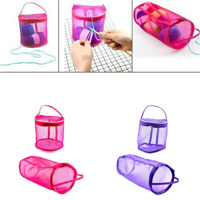 1x DIY Storage Knitting Crochet Needle Craft Holder Case Yarn Wool Storage Bag #