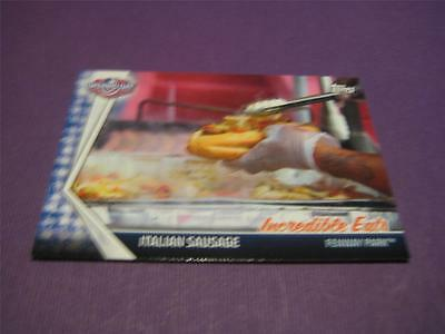 2017 Topps Opening Day Incredible Eats #1 Italian Sausage Fenway Park Red Sox