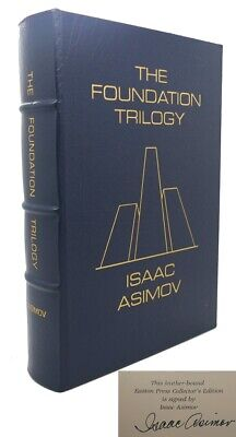 Isaac Asimov THE FOUNDATION TRILOGY Signed Easton Press 1st Edition 1st Printing