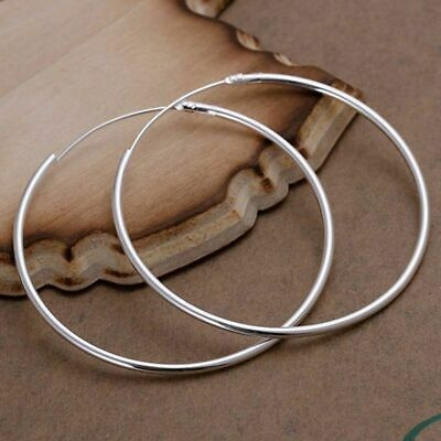 2019 Hot 925 Silver Jewelry Bright Circle Hoop Earrings For Women Gifts New