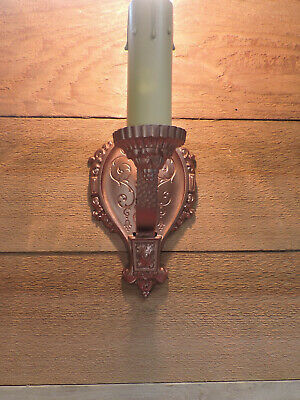 Vintage Wall Sconce RIDDLE CO Antique Light Fixture Restored Art Deco 1930s