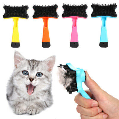 Pet Dog Cat Hair Fur Shedding Trimmer Grooming Massage Rake Comb Brush Well