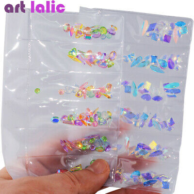 AB Flat Back Glass Nail Art Rhinestones Diamond Crystals Gel Polish Tips Decor