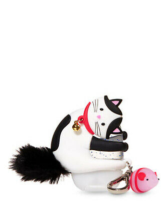 Bath and Body Works WHISKERS THE CAT Light-Up POCKETBAC Holder W/Keychain