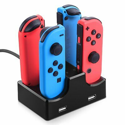 4 Port Controller Charger Charging Dock Station for Nintendo Switch Joy-Con 2USB
