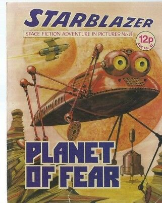 Planet Of Fear,starblazer Space Fiction Adventure In Pictures,comic,no.8