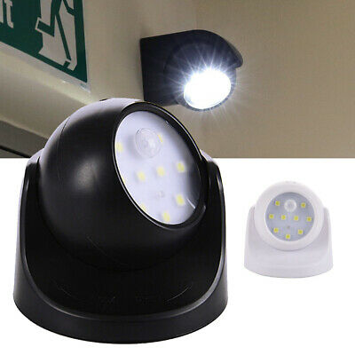 Light LED Security Sensor Outdoor 360° Operated Garden Indoor Battery Motion