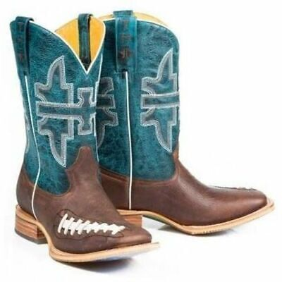 7ba5451ad8bc New in Box Tin Haul Mens Football Stadium Cowboy Boot Square Toe Size 9 EE  2E