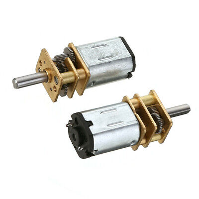 2PCS DC 6V 30RPM Micro Speed Reduction Gear Motor with Metal Gearbox Wheel F