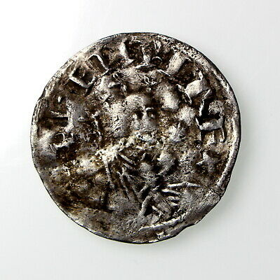 **Henry I Silver Penny 1100-1135AD BMC VI Pointing Bust and Stars ext. rare **