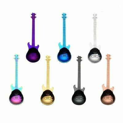 Coffee 7pcs Guitar Teaspoons Musical Steel Spoon Colorful E8F6 Stainless US