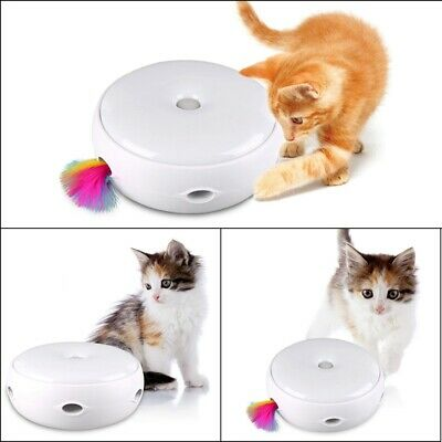 UK Electric Pet Cat Toy Smart Teaser Interactive Kitten Rotating Design Fun Gift