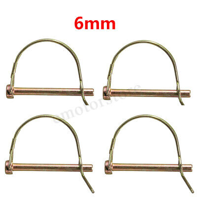 4pcs 6mm Shaft Locking Retaining Pin D Clip Lynch Linch Linchpin For Trailers -