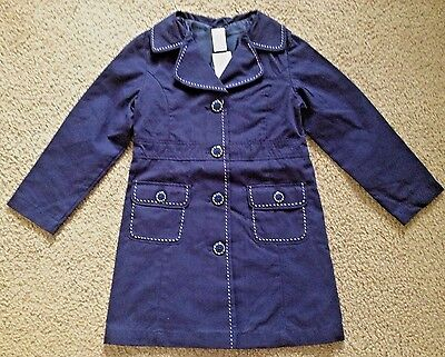 NWT GYMBOREE Navy School Uniform Shop Cotton Trench Coat Girls 5-6 S