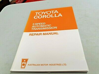 1970s ? TOYOTA COROLLA 3 Speed Automatic Trans Australian Workshop Manual