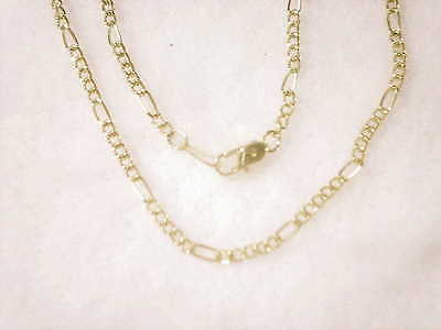 bling gold Plated 2MM 18 IN figaro chain hip hop FASHION necklace RAPPER JEWELRY