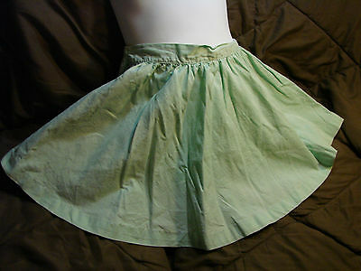 Vintage 50s Girls Childs Skirt 4-5 Pastel Green Spring Cotton