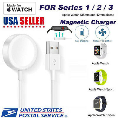Portable Charger Charging Cable For Apple Watch iWatch Series 1/2/3/4 38 to 44mm