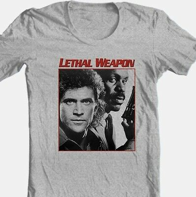 Lethal Weapon T-shirt retro 80's movie Free Shipping cotton graphic grey tee