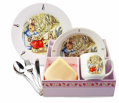 Peter Rabbit & Family - 6pc Porcelain Breakfast Dining Set - Reutter Porzellan