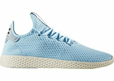 45fbab5d3cb97 Adidas CP9764 Pharrell PW Tennis HU Mens Ice Blue Mesh Athletic Shoes Size 8