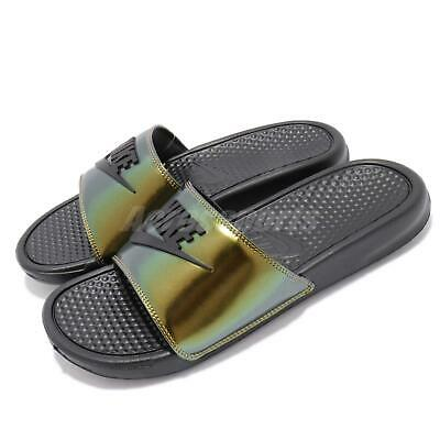 timeless design 92a63 75d8e Nike Benassi JDI SE Just Do It Electro Green Black Slide Slippers AJ6745-003