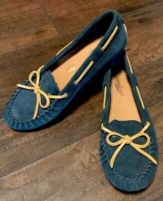 5146987f4fa Lucky Brand Abelle 2 Blue Suede Slip On Moccasin Loafer women s size 6
