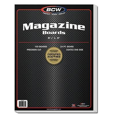 "1 Pack of 100 BCW 8 1/2"" Magazine Backing Backer Boards"