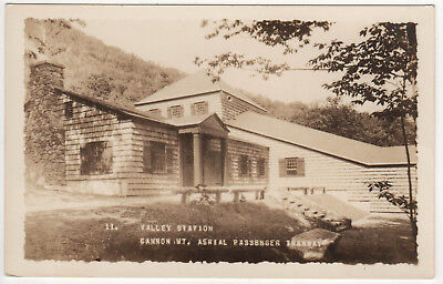 CANNON MOUNTAIN MT RPPC RP Real Photo Postcard TRAMWAY New Hampshire NH Station