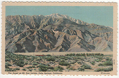 PALM SPRINGS CALIFORNIA PC Postcard MT SAN JACINTO ANGEL Stephen Willard CALI