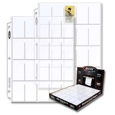 20 loose BCW 20 Pocket Album Pages Tobacco Card Storage Sheets Holders