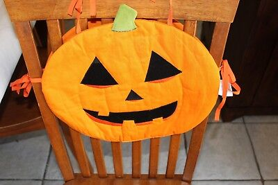 Pleasant Pumpkin Chair Cover Halloween Decor Party Jack O Lantern Caraccident5 Cool Chair Designs And Ideas Caraccident5Info