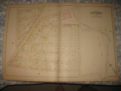 Antique 1882 23Rd Ward South & East Melrose Bronx New York City Handcolored Map