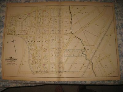 Antique 1882 23Rd Ward East Morrisania Bronx New York City Handcolored Map