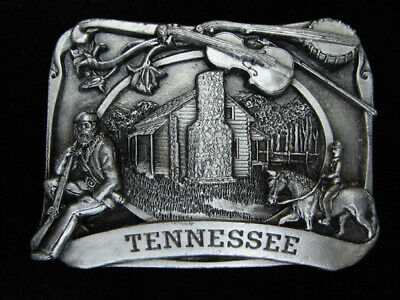 Pl29133 Vintage 1984 **Tennessee** Commemorative Pewter Siskiyou Belt Buckle