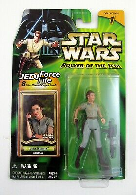 STAR WARS LEIA ORGANA Power of The Jedi Action Figure MOC COMPLETE 2000