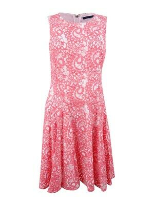 0685aea89d9 TOMMY HILFIGER LACE DRESS~Soft Peachy-Pink Bell Sleeves Mini Size 4 ...