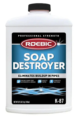 (3) Roebic K-87 32oz SGP Soap Grease & Paper Digester Drain Septic Tank Cleaner