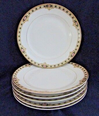 "Noritake THE CEYLON Bread & Butter Plates 6 1/2"", c1920s, Set of 6, Vintage"