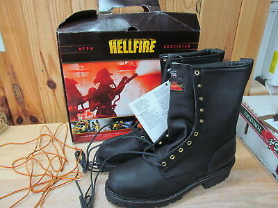 "bd678e72547 THOROGOOD 12 M 834-6381 Hellfire 9"" Wildland Brush Fire Fighting Boots - New"