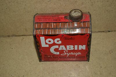 :: Towle's Log Cabin Syrup Container - Empty Vintage