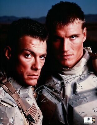 Dolph Lundgren Hand Signed Autographed 8x10 Photo Universal Soldier GA 758771