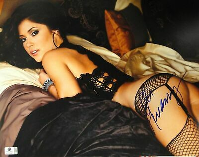 Arianny Celeste Hand Signed Autographed 11x14 Photo UFC Ring Playboy JSA U16421
