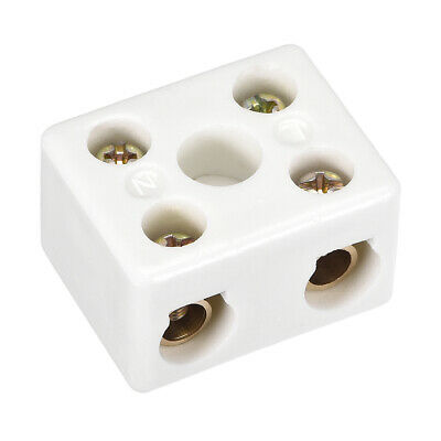 2 Way Ceramics Terminal Blocks High Temp Porcelain Connectors 39x31.5x23mm