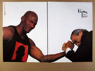 1997 Michael Jordan & Bijan photo vintage print Ad